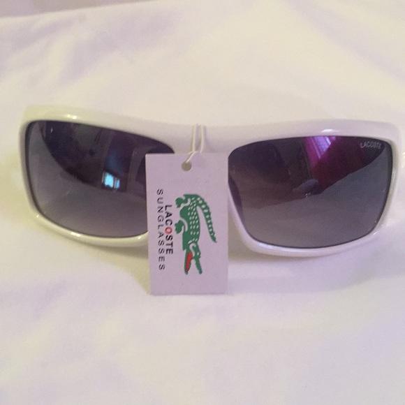 ce1418885a9 White Unisex Lacoste Sunglasses